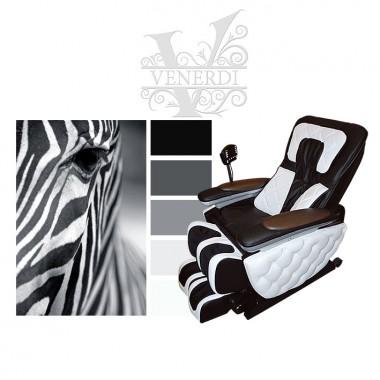 Кресло дизайнерские Venerdi Futuro «Королевская зебра»